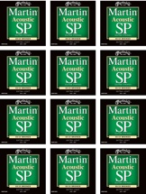 Martin MSP3000 SP 80/20 Bronze Acoustic Guitar Strings (.010-.047 Extra Light 12-Pack)
