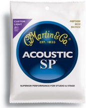 Martin MSP3050 SP 80/20 Bronze Acoustic Guitar Strings (.011-.052 Custom Light)