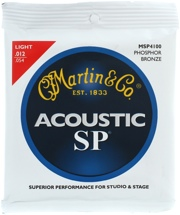 Martin MSP4100 SP 92/8 Phosphor Bronze Acoustic Strings (.012-.054 Light)