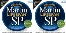Martin MSP7200 SP Lifespan 92/8 Phosphor Bronze Strings (.013-.056 Medium 2-Pack)