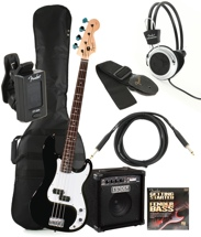Squier P Bass Pack with Rumble Amp (Black)