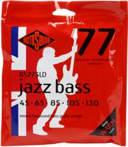 Rotosound RS775LD Jazz 77 Bass Guitar Strings (.045-.130 Long Scale 5-Str)