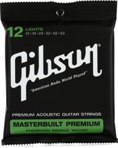 Gibson Accessories SAG-MB12 Masterbuilt Premium Phosphor Bronze Acoustic Strings (.012-.053 Light)