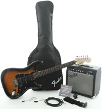 Squier Affinity Strat Pak HSS with Frontman 15G Amp (Brown Sunburst)