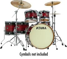 Tama Silverstar Custom 6-Piece Drum Kit (Transparent Red Burst)