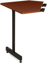 On-Stage Stands WSC7500 Workstation Corner Accessory (Rosewood/Black Steel)