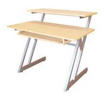On-Stage Stands WS7500 Wooden Workstation (Maple / Gray Steel)