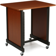 On-Stage Stands WSR7500 Rack Cabinet (Rosewood / Black Steel)