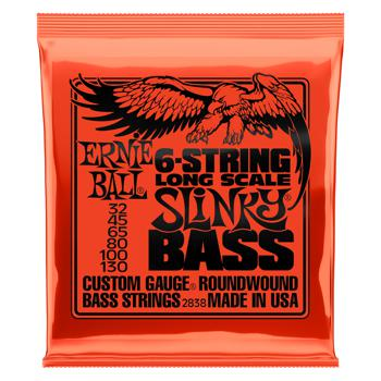 ernie ball 2838 slinky roundwound long scale 6 string bass strings. Black Bedroom Furniture Sets. Home Design Ideas