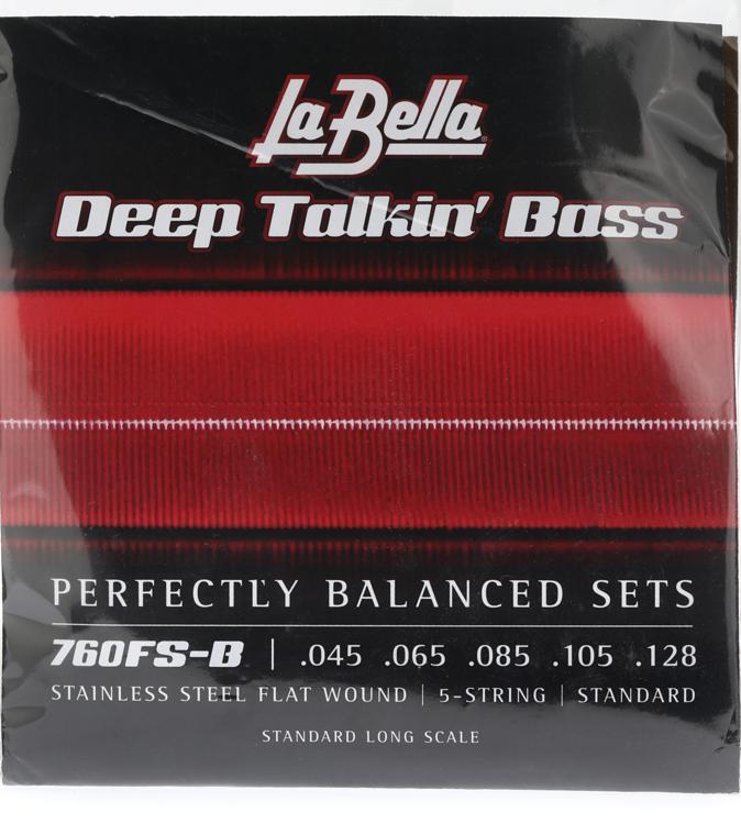la bella 760fs b deep talkin 39 bass flatwound bass strings standard 5 string. Black Bedroom Furniture Sets. Home Design Ideas