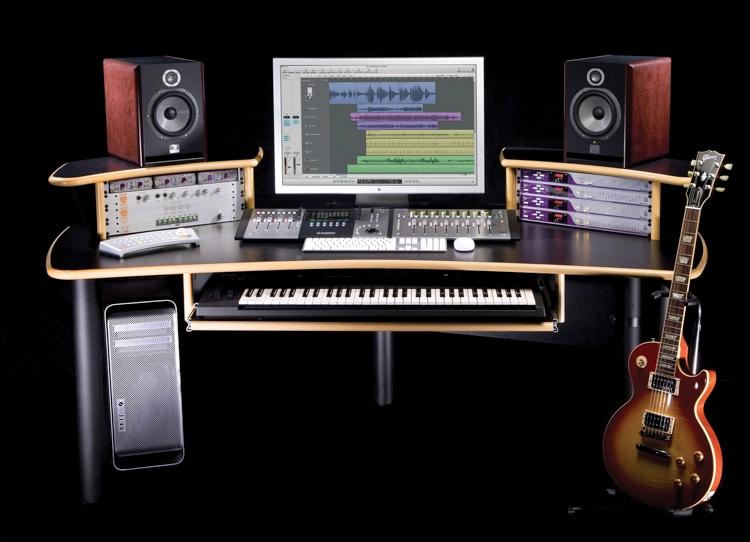 kk audio a1 edit desk black w lite edge. Black Bedroom Furniture Sets. Home Design Ideas