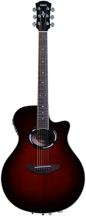 Yamaha Apx500ii Dark Red Burst Sweetwater Com