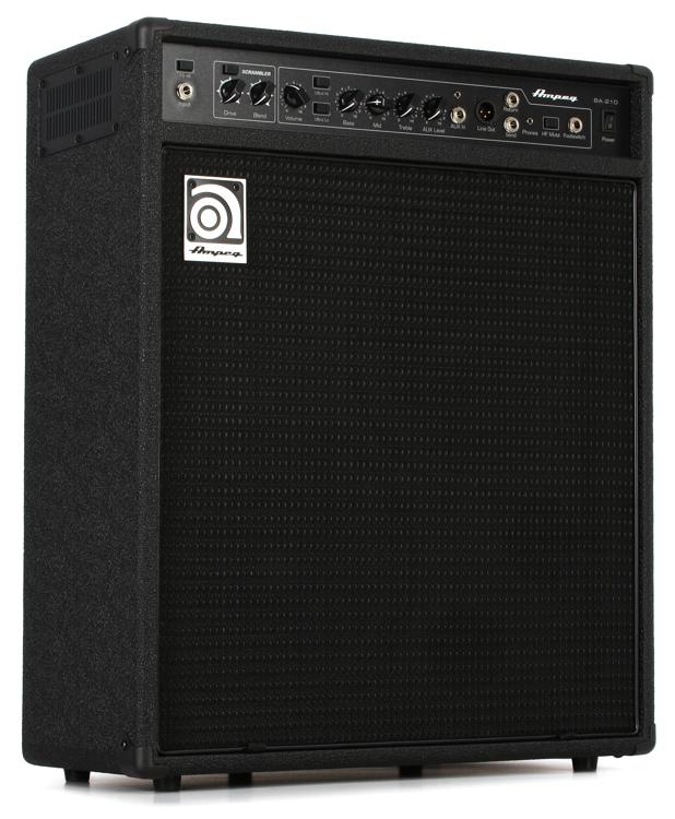 ampeg ba 210v2 2x10 450 watt bass combo with scrambler. Black Bedroom Furniture Sets. Home Design Ideas