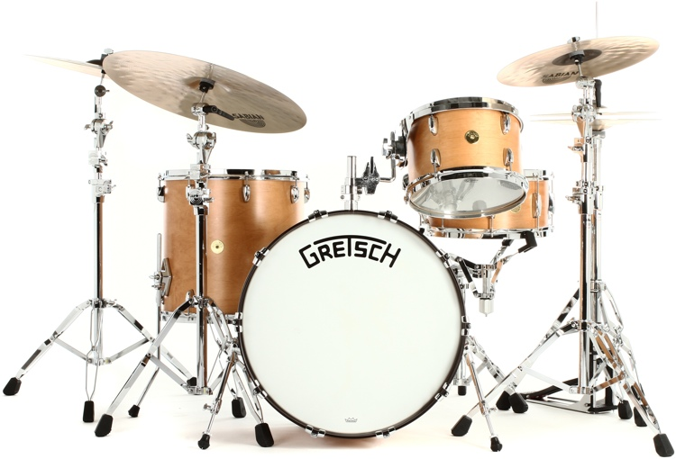 gretsch drums broadkaster 4 piece drum set review by sweetwater sweetwater. Black Bedroom Furniture Sets. Home Design Ideas