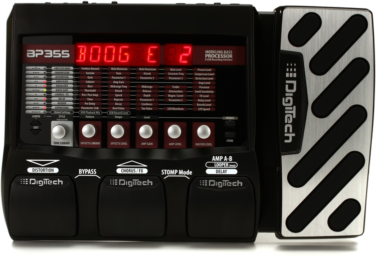 digitech bp355 bass multi effects pedal with usb. Black Bedroom Furniture Sets. Home Design Ideas