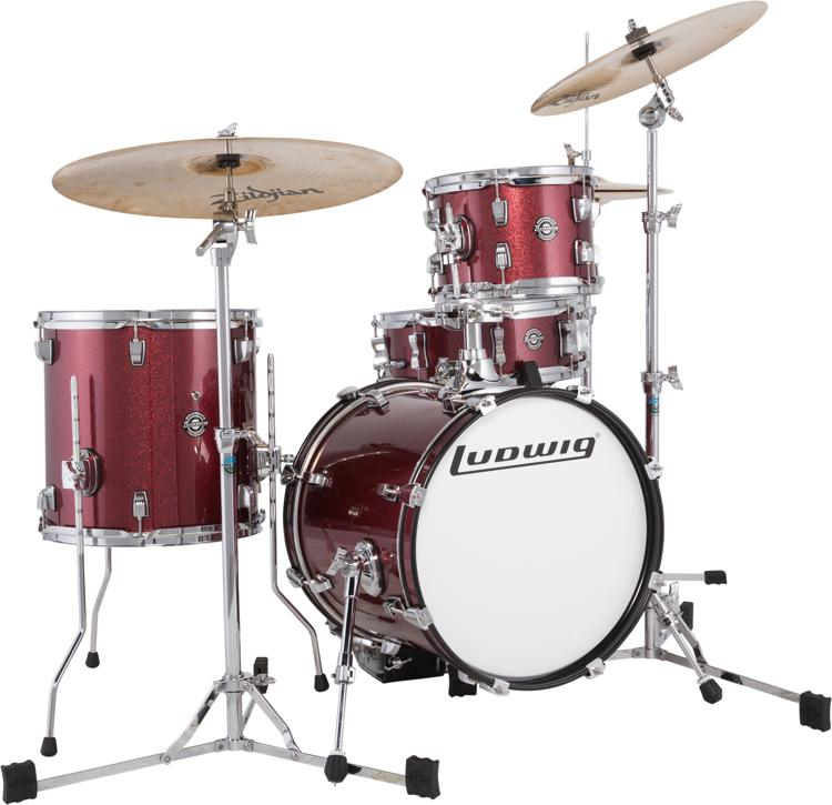 ludwig breakbeats by questlove 4 piece shell pack with snare drum wine red. Black Bedroom Furniture Sets. Home Design Ideas