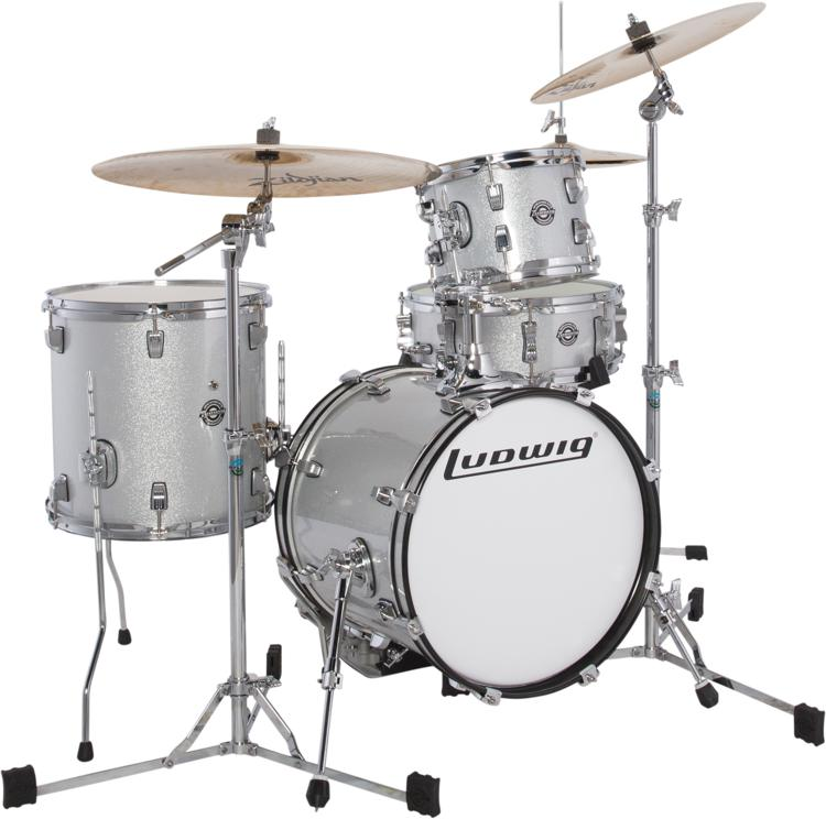 ludwig breakbeats 4 piece shell pack with snare drum review by sweetwater. Black Bedroom Furniture Sets. Home Design Ideas