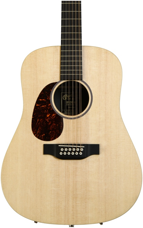 Martin D12x1ae Natural Left Handed 12 String