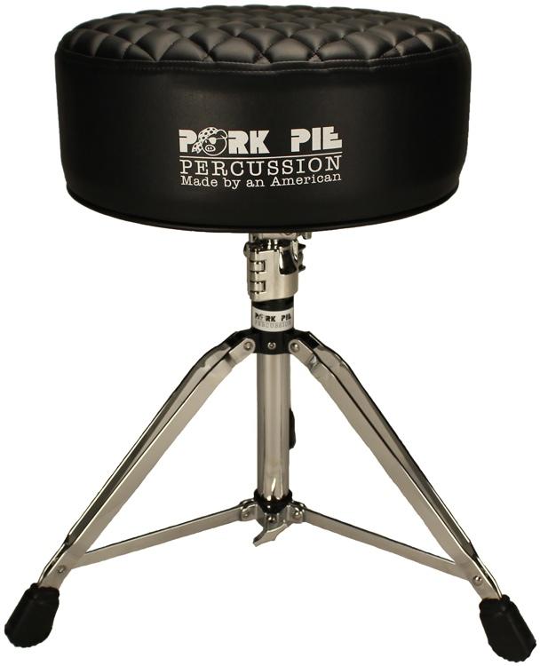 pork pie percussion deuce series round drum throne black diamond tuck. Black Bedroom Furniture Sets. Home Design Ideas