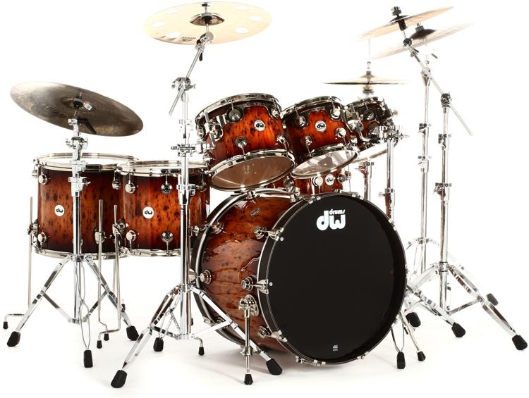 DW Collectors Exotic Cherry 7 Piece Drum Set Review By