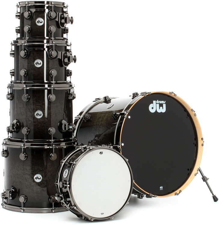dw collector 39 s series exotic 6 piece drum kit review sweetwater. Black Bedroom Furniture Sets. Home Design Ideas
