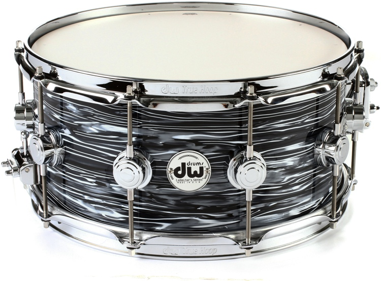 dw collector 39 s series finish ply snare 6 5 x14 black oyster. Black Bedroom Furniture Sets. Home Design Ideas