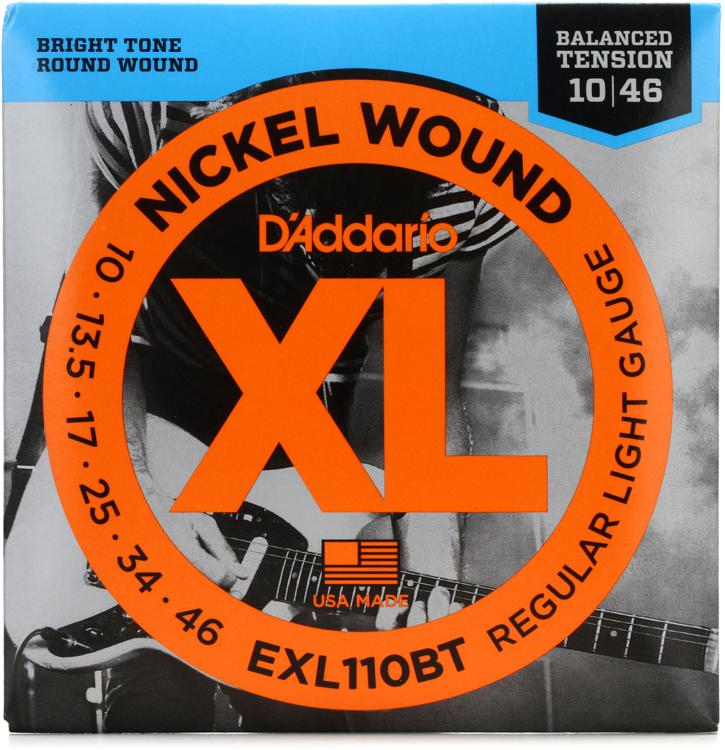 Addario EXL110BT Balanced Tension Nickel Wound Light Electric ...