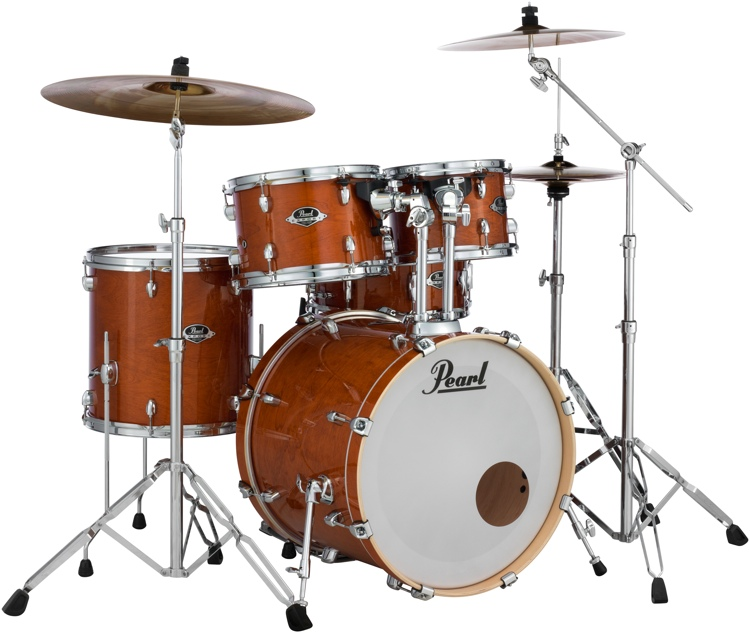 pearl export exl 5 piece shell pack with snare drum honey amber. Black Bedroom Furniture Sets. Home Design Ideas