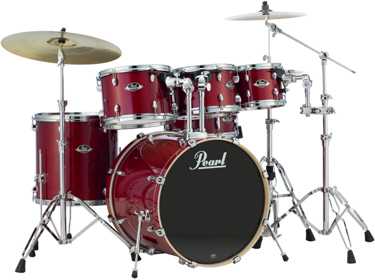 pearl export exl 6 piece shell pack with snare drum natural cherry. Black Bedroom Furniture Sets. Home Design Ideas
