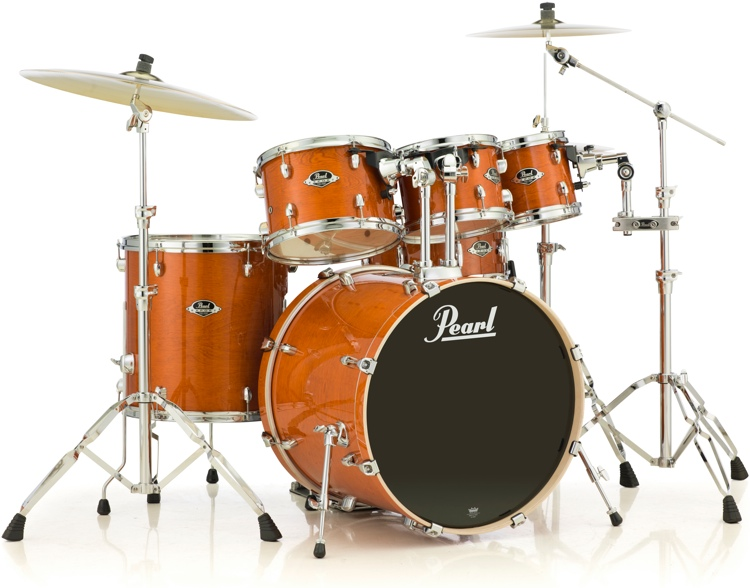 pearl export exl 6 piece shell pack with snare drum honey amber. Black Bedroom Furniture Sets. Home Design Ideas