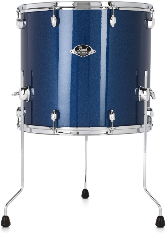 pearl export exx floor tom 16 x18 electric blue sparkle. Black Bedroom Furniture Sets. Home Design Ideas