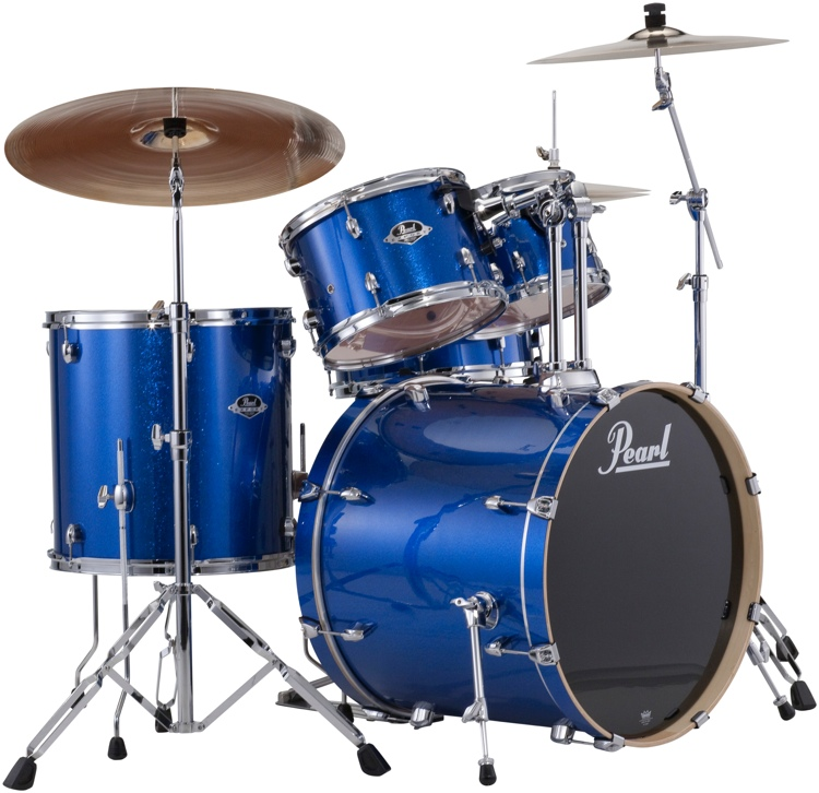 pearl export exx 5 piece drum set with hardware fusion configuration electric blue sparkle. Black Bedroom Furniture Sets. Home Design Ideas