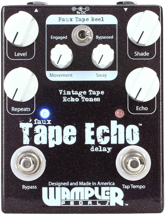 wampler faux tape echo with tap tempo. Black Bedroom Furniture Sets. Home Design Ideas