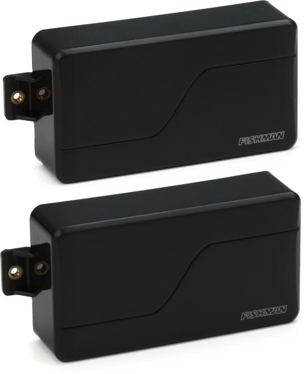 fishman fluence modern humbucker pickup set with black plastic cover. Black Bedroom Furniture Sets. Home Design Ideas