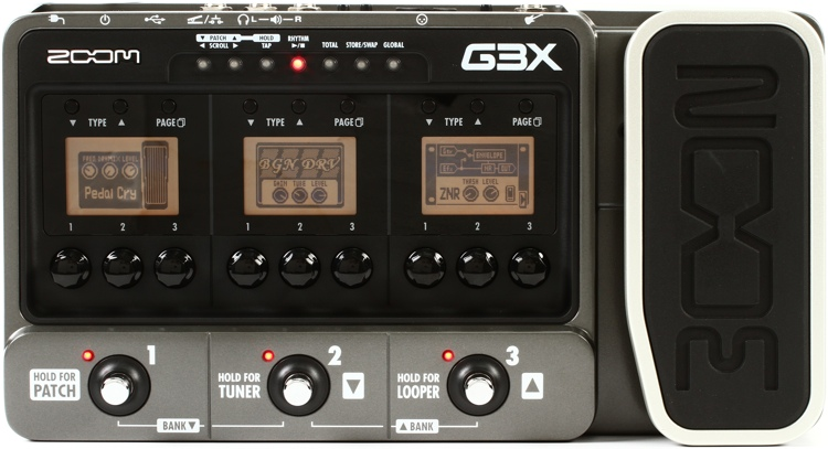 zoom g3x multi effects pedal with usb and expression pedal. Black Bedroom Furniture Sets. Home Design Ideas
