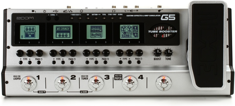 zoom g5 guitar multi fx processor demo insync sweetwater. Black Bedroom Furniture Sets. Home Design Ideas