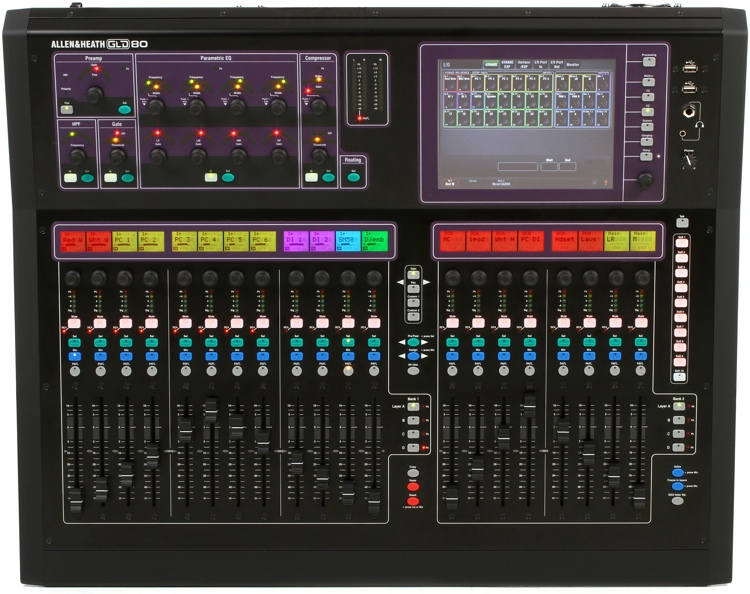 allen heath gld 80 digital mixing console overview insync. Black Bedroom Furniture Sets. Home Design Ideas