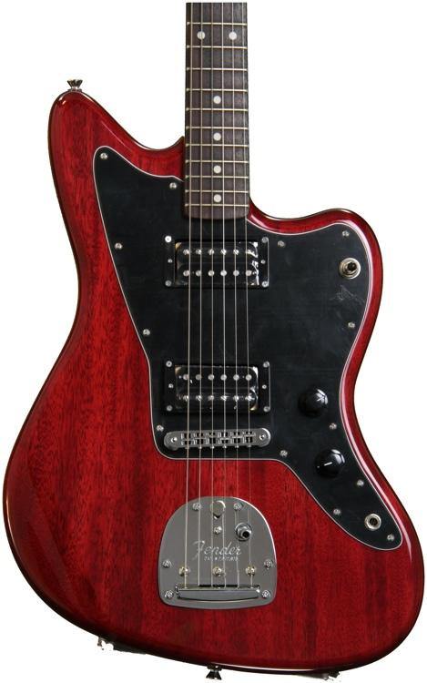 fender modern player jazzmaster hh crimson red transparent. Black Bedroom Furniture Sets. Home Design Ideas