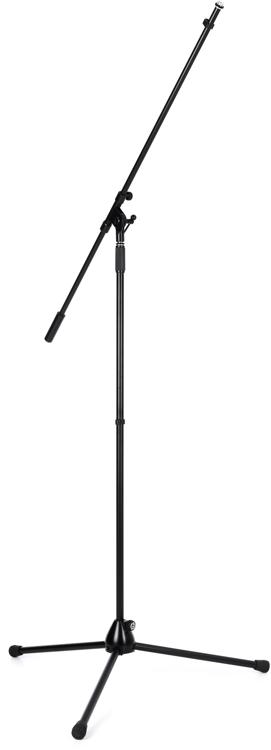 K Amp M 21021 Extra Tall Boom Microphone Stand Black