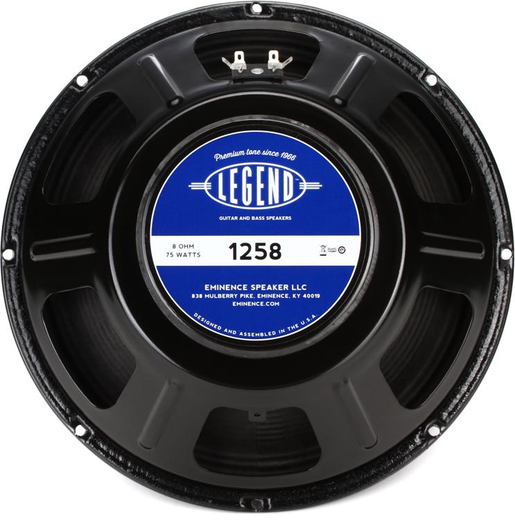 eminence legend 1258 legend series 12 75 watt replacement guitar speaker 8 ohm. Black Bedroom Furniture Sets. Home Design Ideas