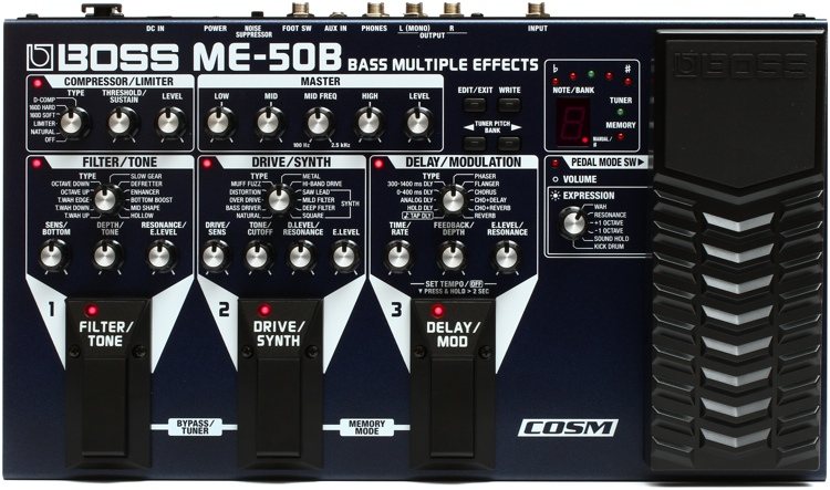boss me 50b bass multi effects. Black Bedroom Furniture Sets. Home Design Ideas