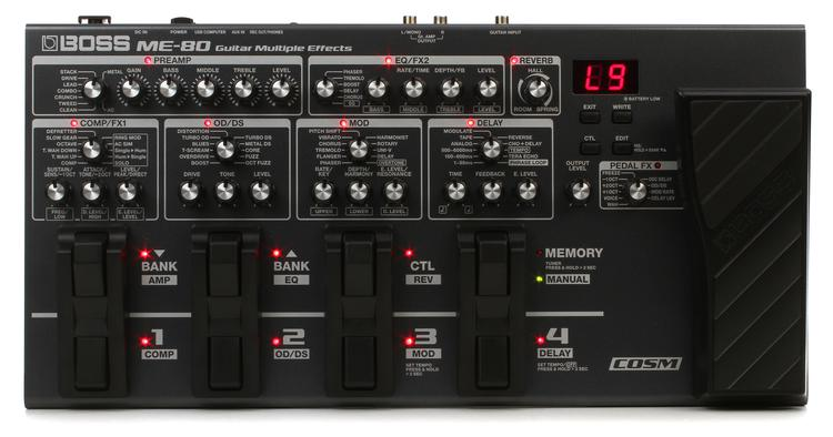 boss me 80 guitar multi effects processor demo sweetwater guitars and sweetwater. Black Bedroom Furniture Sets. Home Design Ideas
