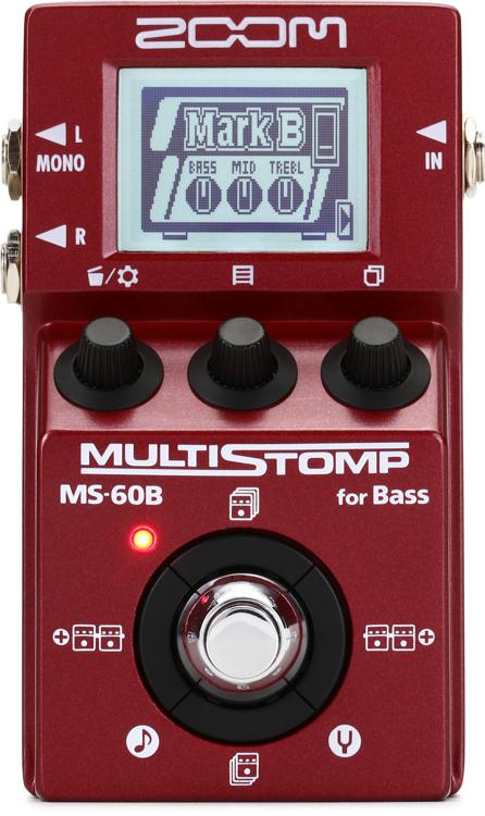 zoom ms 60b multistomp bass effects pedal. Black Bedroom Furniture Sets. Home Design Ideas