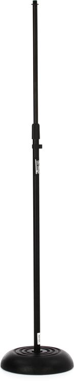 on stage stands ms7201b round base microphone stand. Black Bedroom Furniture Sets. Home Design Ideas