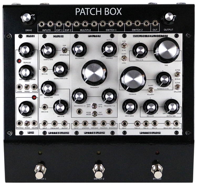 pittsburgh modular patch box fx1 eurorack modular multi effects pedal system. Black Bedroom Furniture Sets. Home Design Ideas