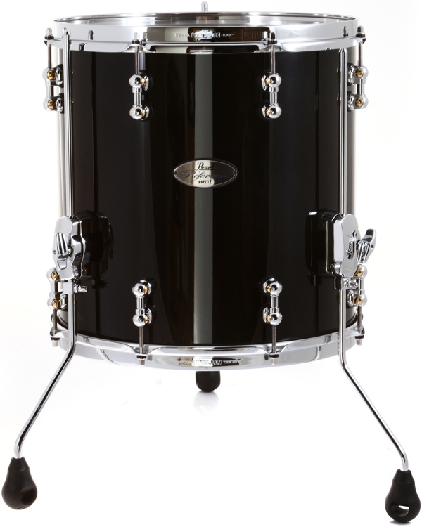 pearl reference pure series floor tom 14 x 14 piano black. Black Bedroom Furniture Sets. Home Design Ideas
