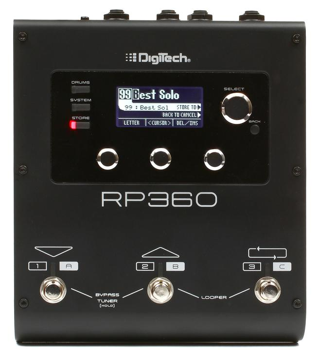 digitech rp360 guitar multi effects with usb. Black Bedroom Furniture Sets. Home Design Ideas