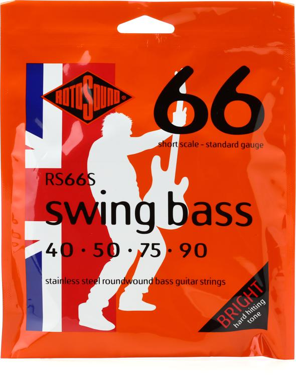 rotosound rs66s swing bass 66 stainless steel roundwound short scale bass strings. Black Bedroom Furniture Sets. Home Design Ideas