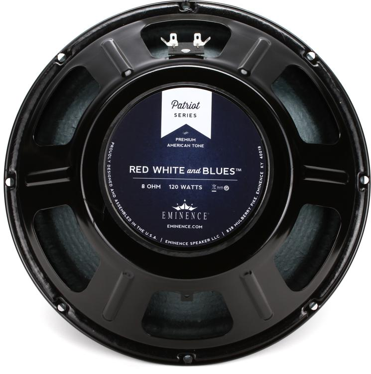 eminence red white and blues patriot series 12 120 watt replacement guitar speaker 8 ohm. Black Bedroom Furniture Sets. Home Design Ideas