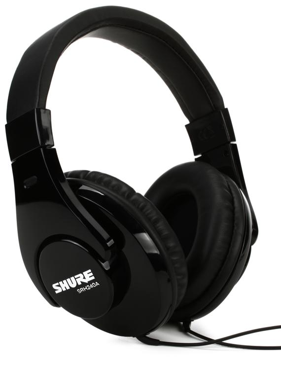Shure Srh240a Closed Back Headphones Sweetwater Com